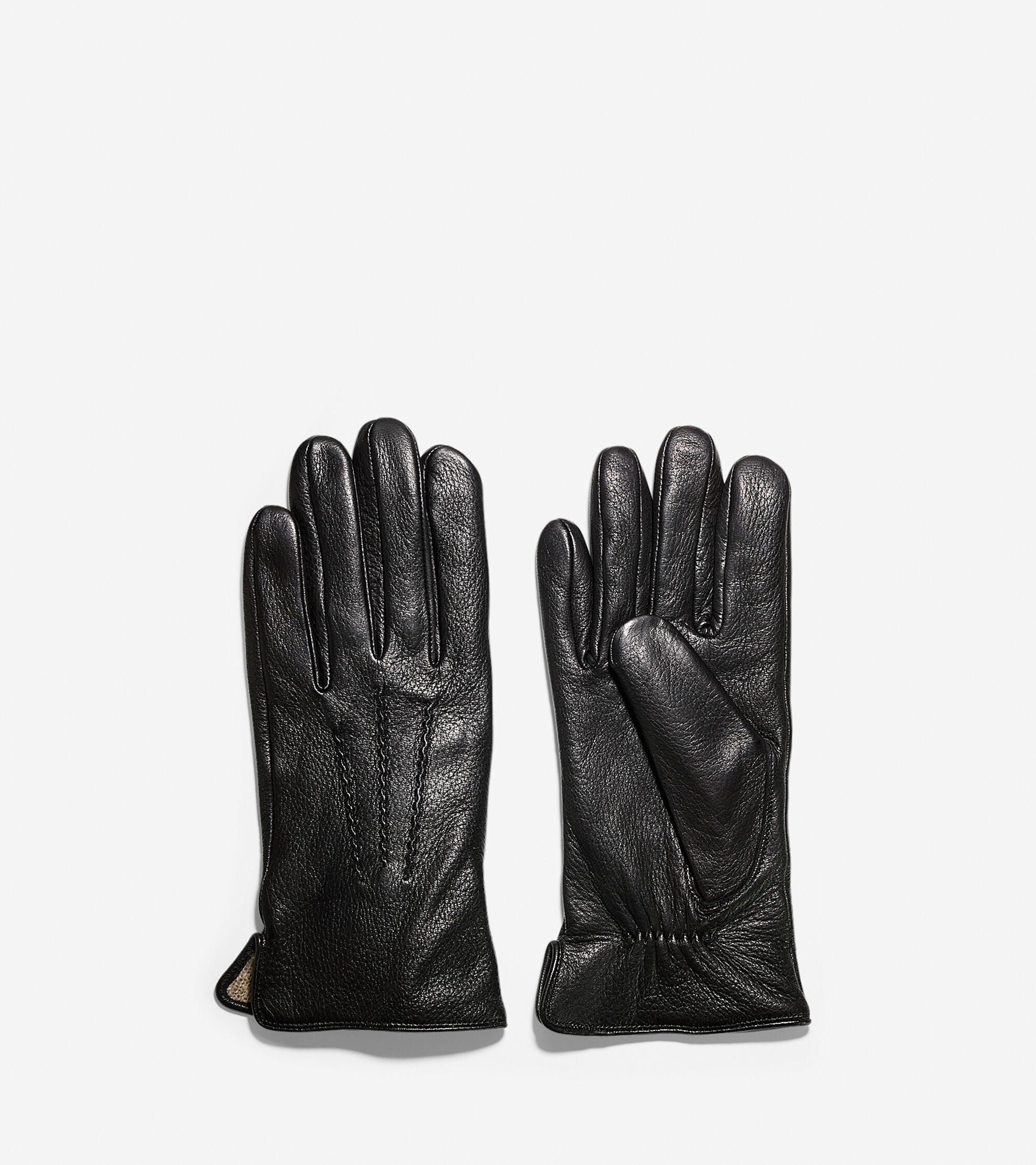 Cole haan black leather gloves -