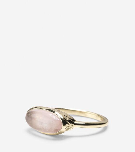 Accessories > Basket Weave Oval Semi-Precious Ring
