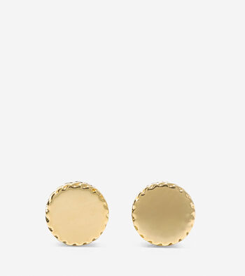 Signature Small Round Disc Stud Earrings