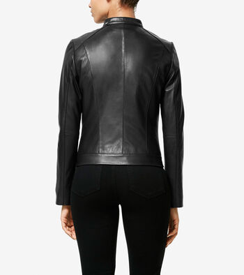 Italian Smooth Lambskin Racer Jacket