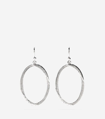 Signature Twisted Oval Basket Weave Earrings