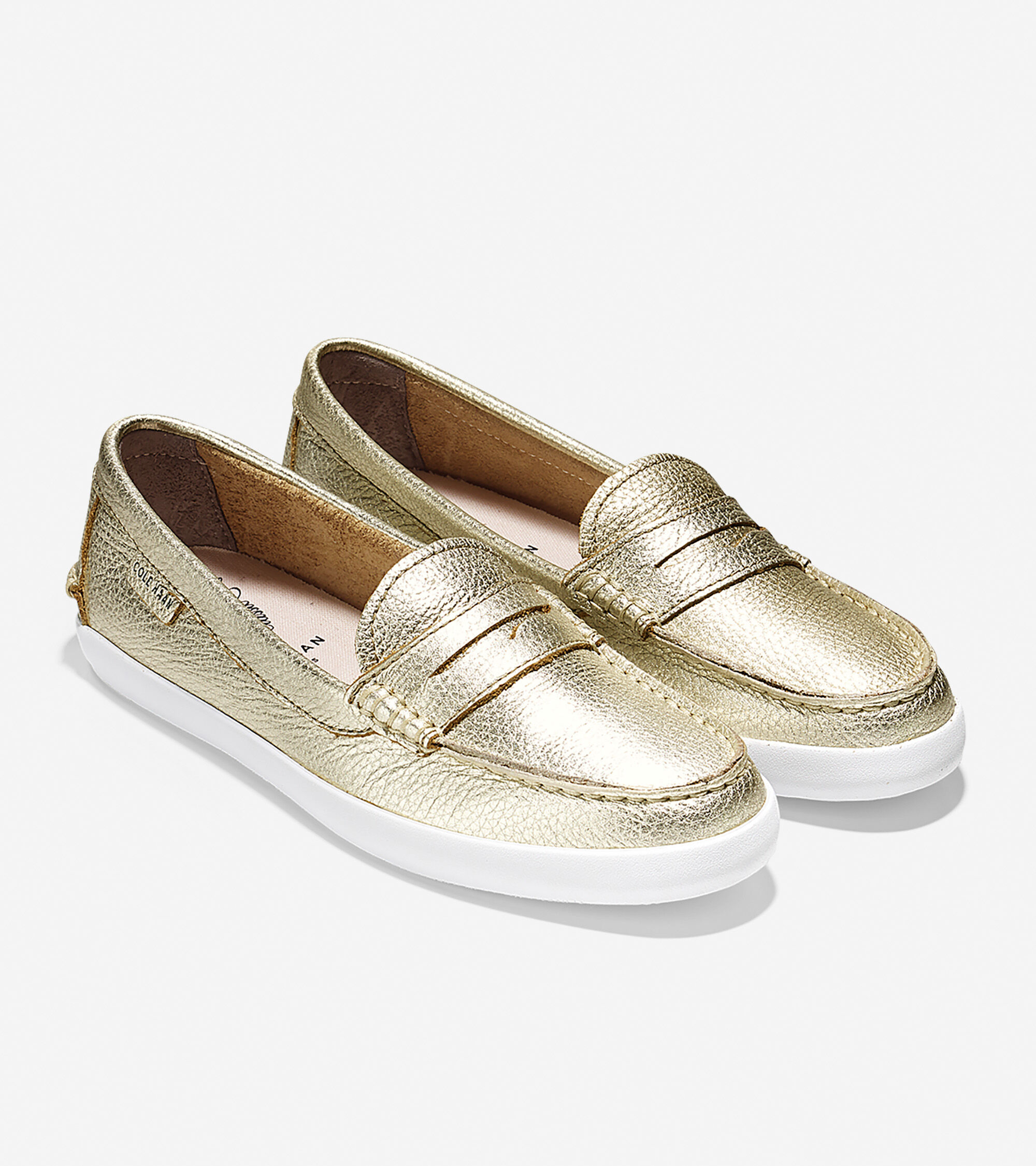 Pinch Leather Weekenders in Soft Gold Metallic