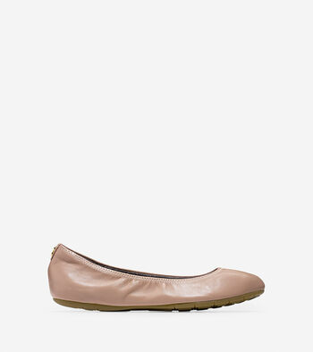 Women's ZERØGRAND Stagedoor Stud Ballet Flat