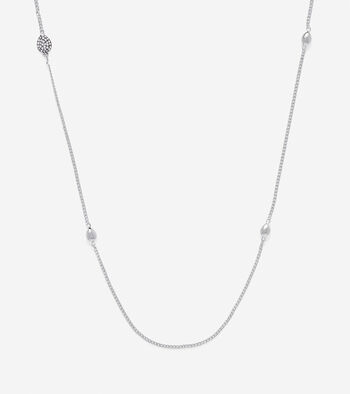 Waters Edge Teardrop Swarovski Station Necklace