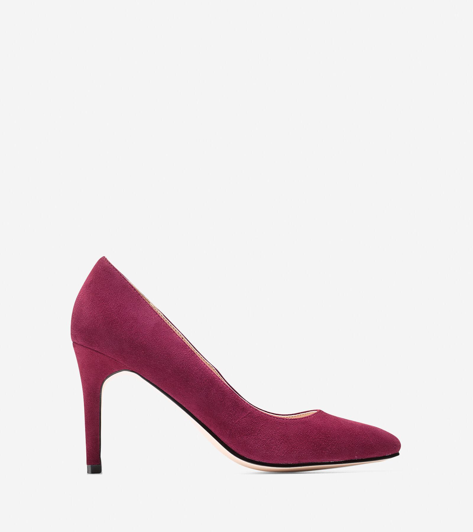 Womens Shoes Cole Haan Fair Haven Pump Zinfandel Suede