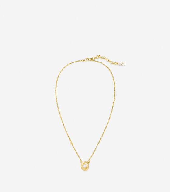 17 Inch Single Circle Pendant Necklace