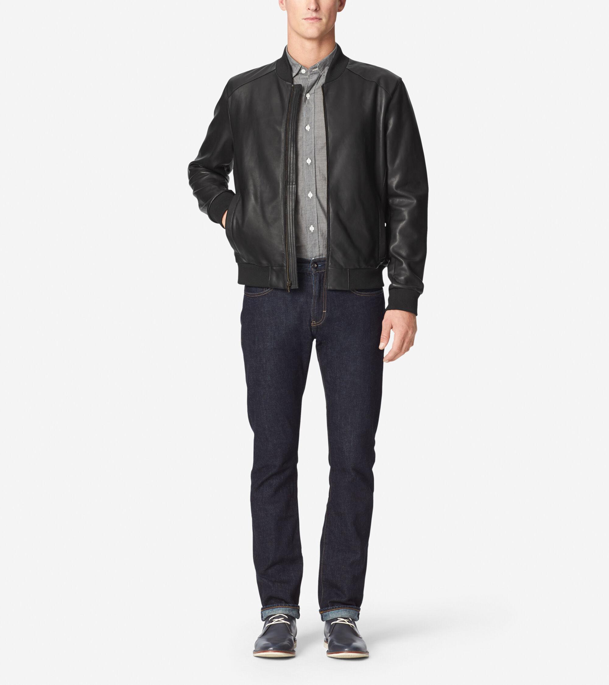 Outerwear > Bonded Lamb Varsity Jacket