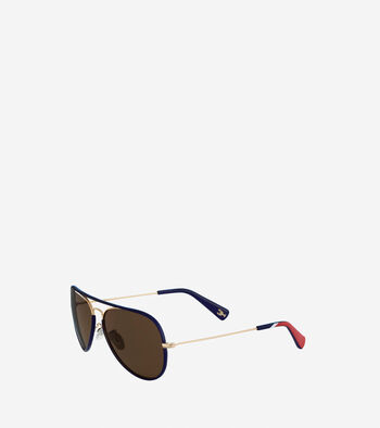 Pinch Metal Aviator Sunglasses