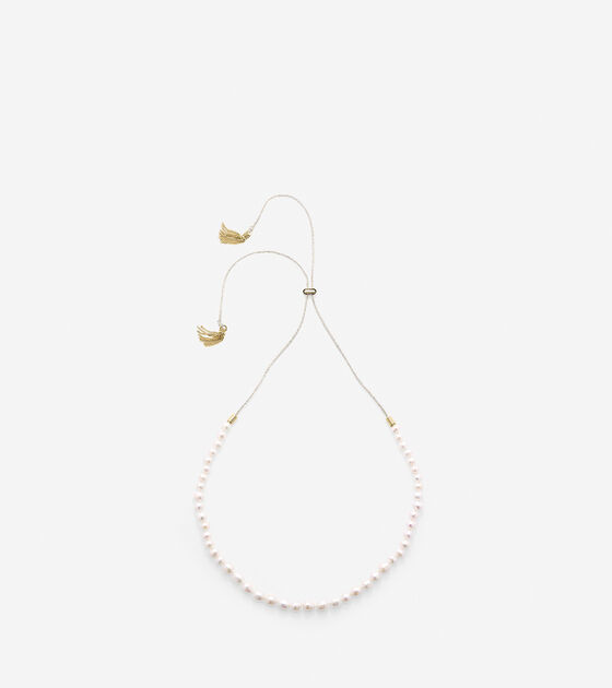 Tali Pearl Fresh Water Pearl Pull Tie Necklace
