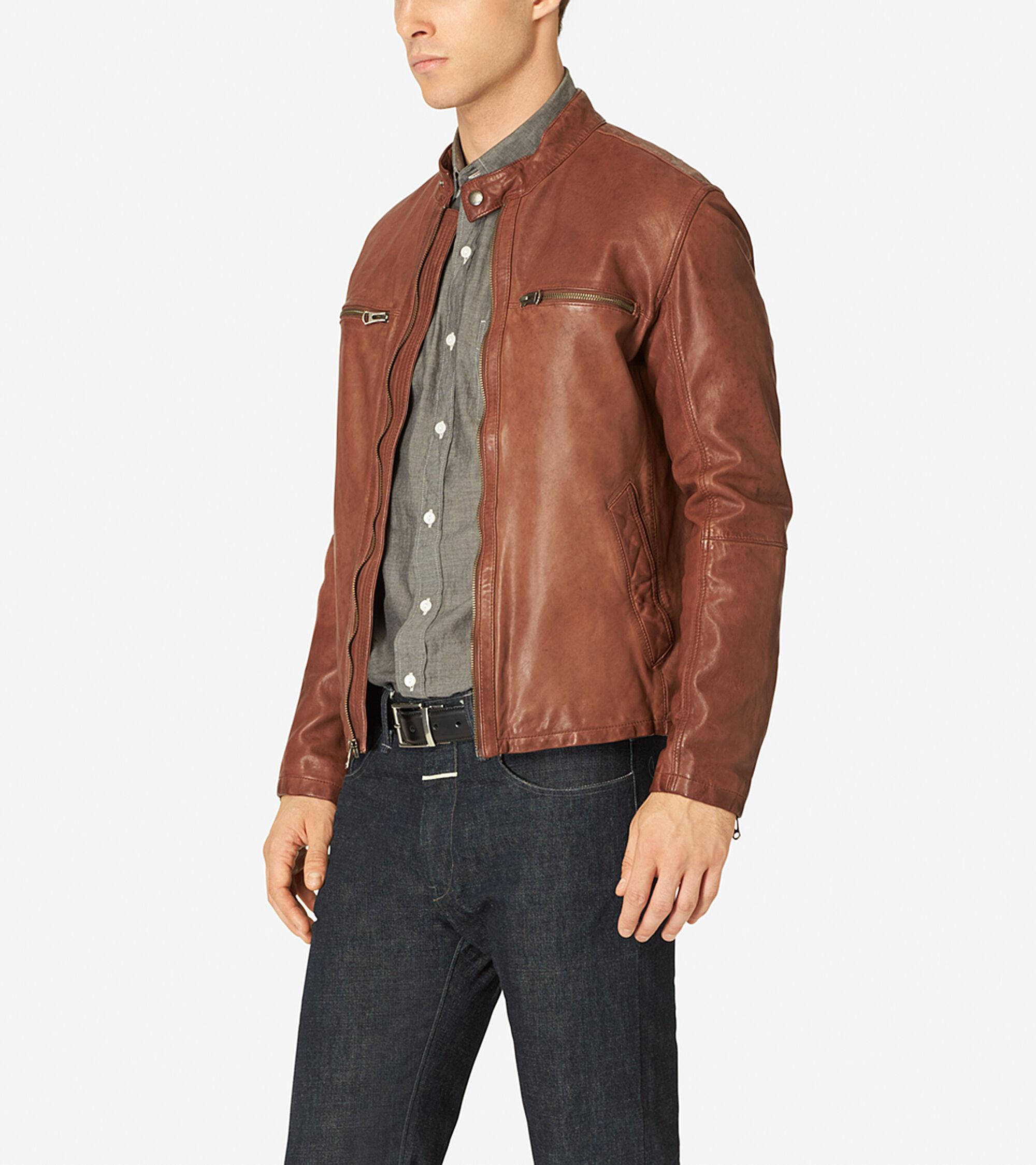Moto jacket leather