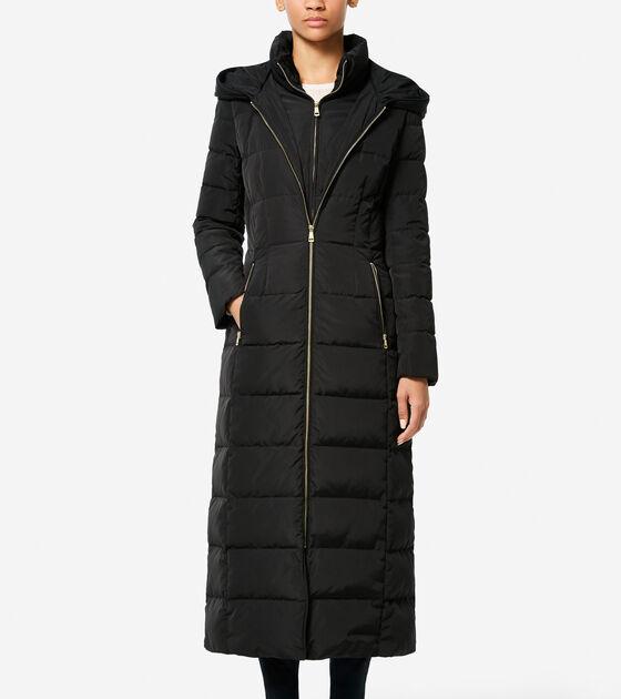 Bags & Outerwear > Tafetta Down 50in Down Maxi Coat