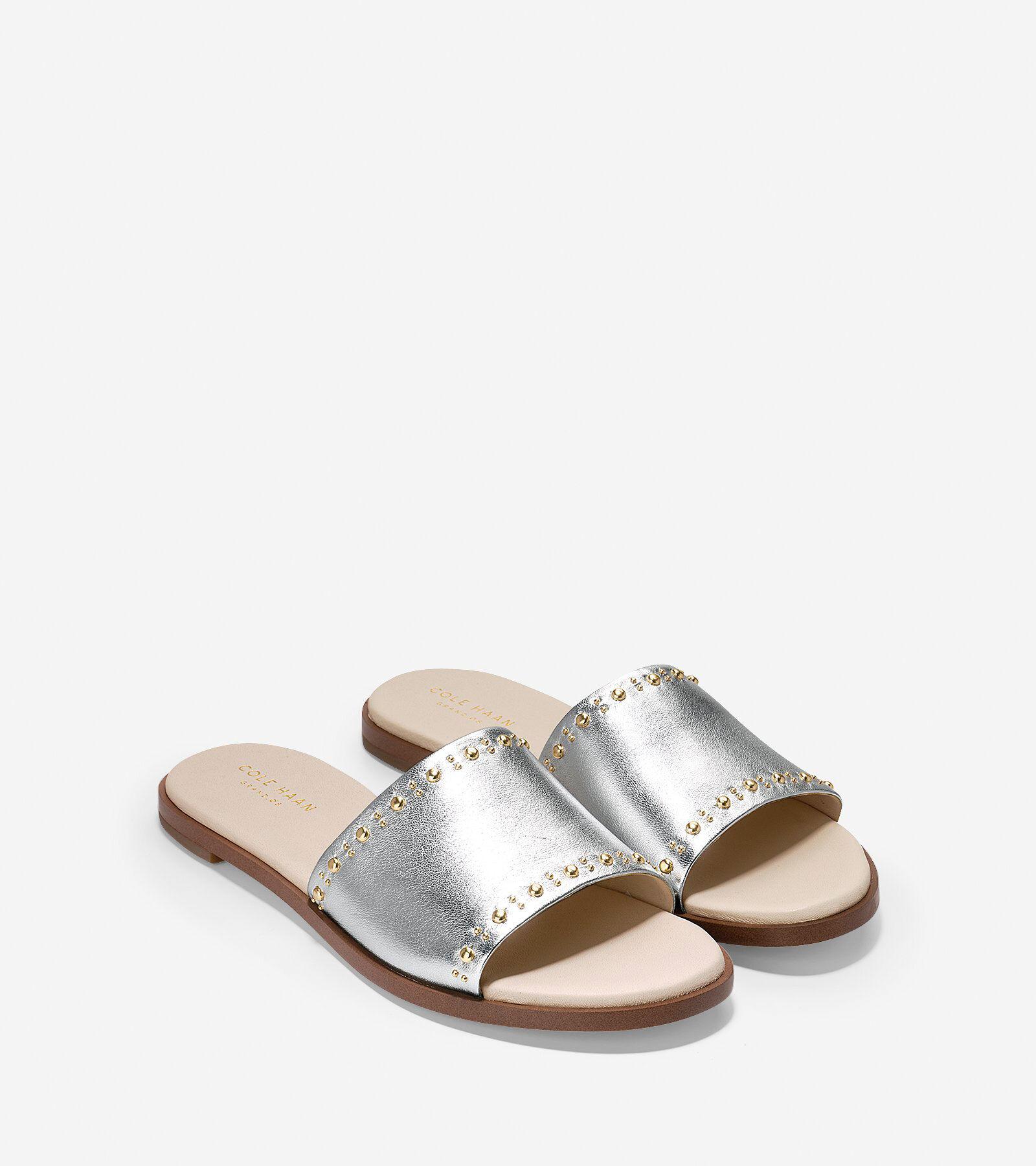 Cole Haan Anica Metallic Slide Sandals 5Sa7EKf