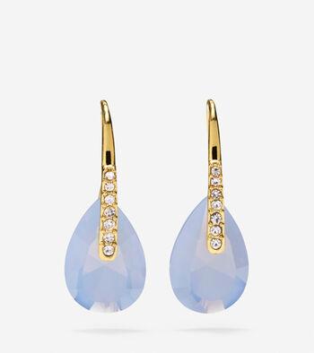 Gem Drops Blue Air Opal & Crystal Earrings