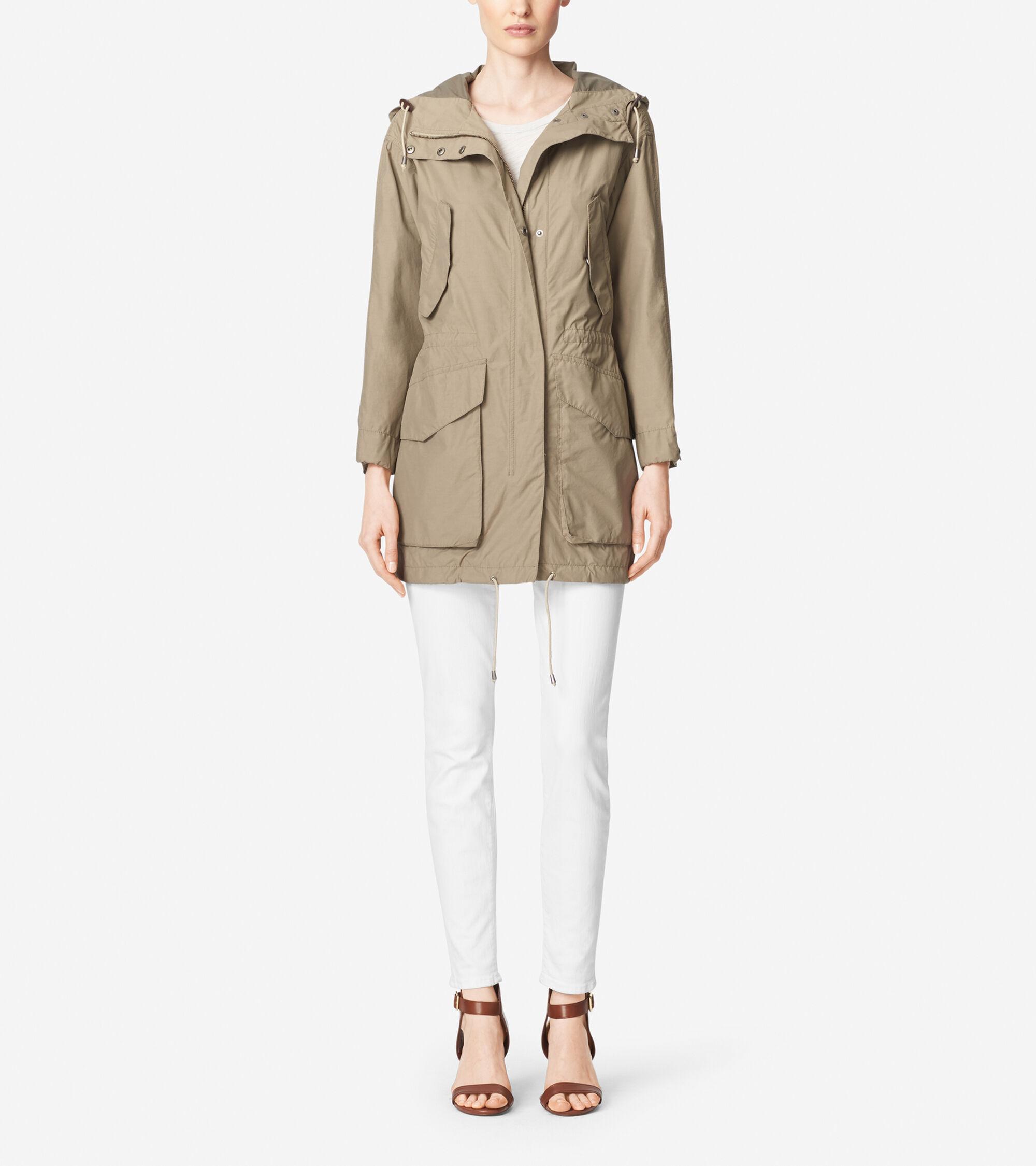 Outerwear > Washed Nylon Hooded Boyfriend Parka