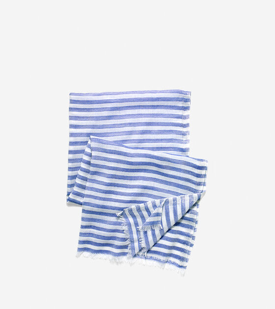 Lurex Border Stripe Scarf