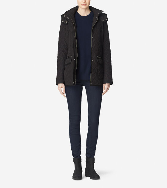 Outerwear > Quilted Parka With Hood