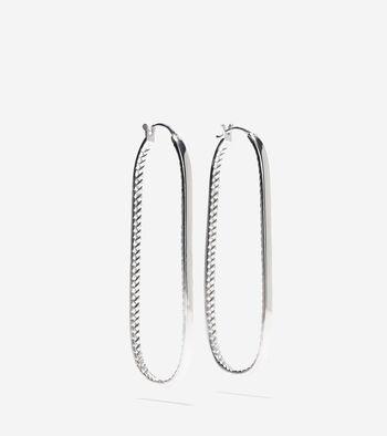 Long Oval Drop Earrings