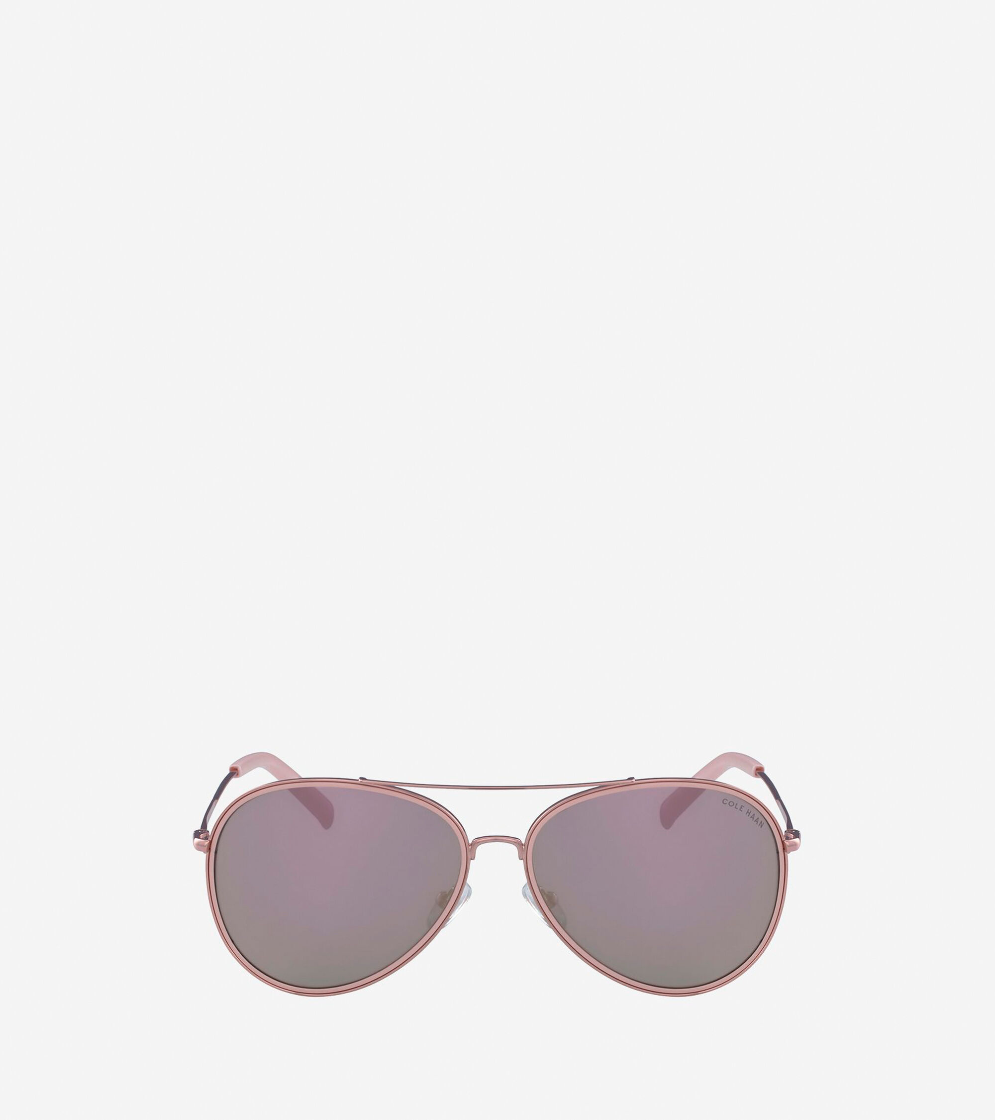 Women\'s Grand Aviator Sunglasses in Rose Gold   Cole Haan