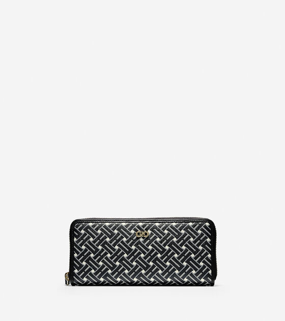 Accessories > Signature Weave Continental Zip Wallet