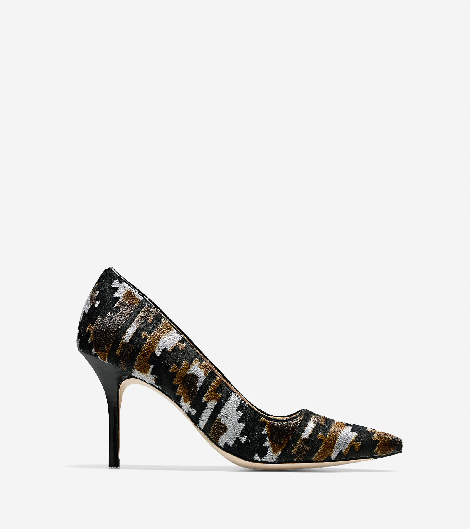 Womens Shoes Cole Haan Bradshaw Pump 85 Charcoal Multi Haircalf