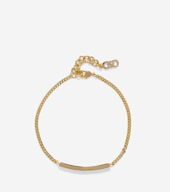 Rounded Pave Swarovski Bar Bracelet