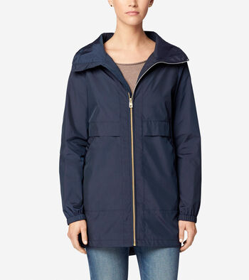 Sporty Packable Rain Jacket
