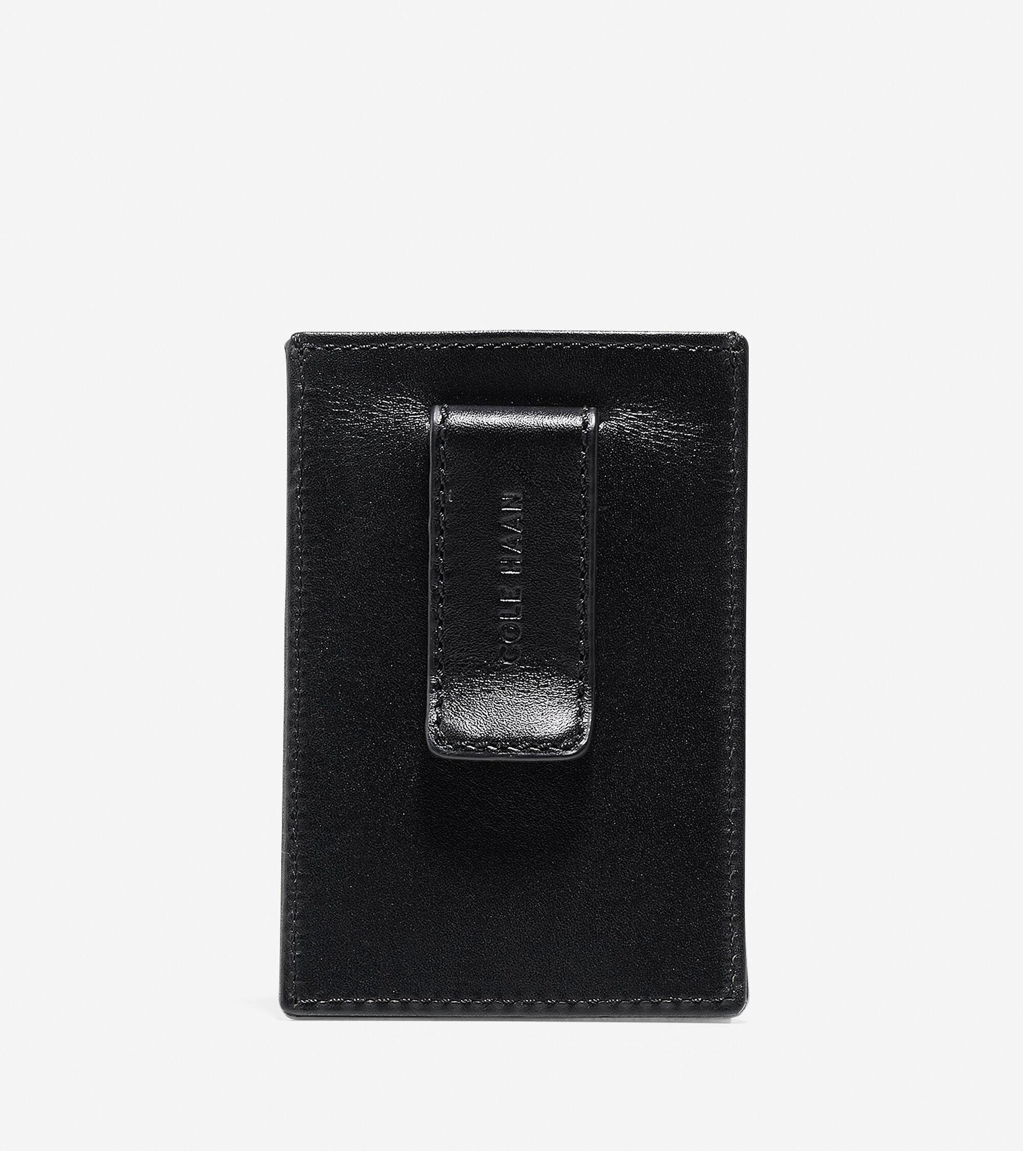 Men\'s Washington Grand Card Case-Money Clip in Black | Cole Haan