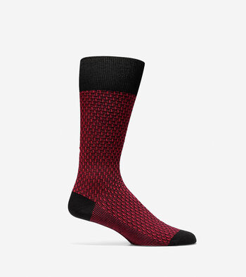 Dog Bone Texture Crew Sock