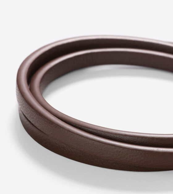 Thin Leather Strap Bracelet With Magnet Closure