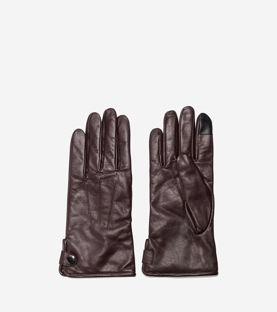 Men's Side Snap Gloves With Center Points