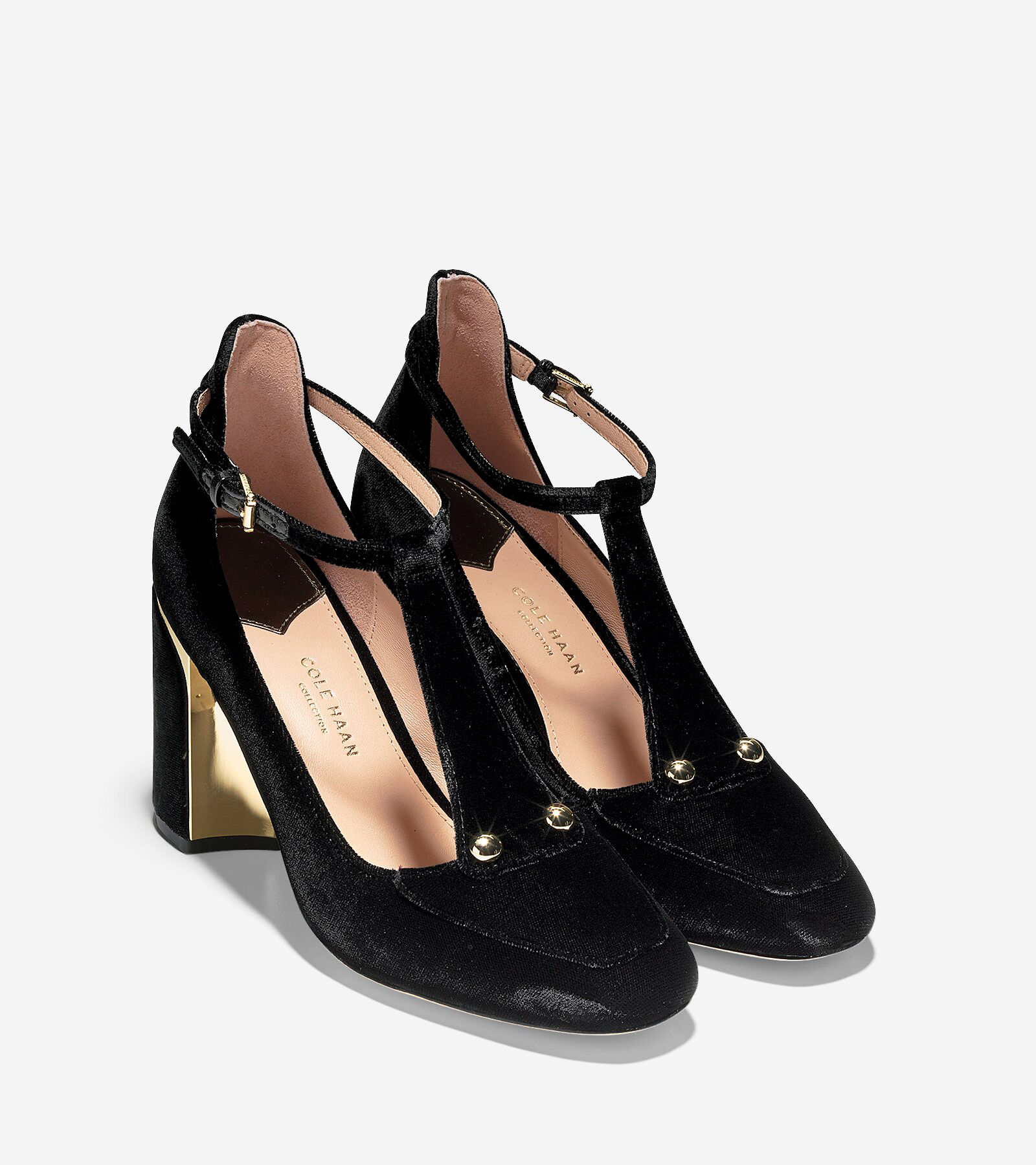 Cole Haan Velvet T-Strap Pumps cheap official site affordable for sale free shipping prices J14Uevz3