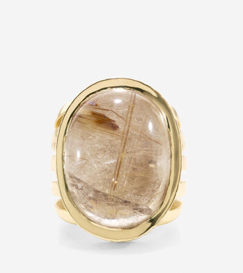 Sandy Shores Large Semi-Precious Stone Cocktail Ring