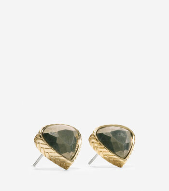 All A Fray Semi-Precious Pyrite Stud Earring