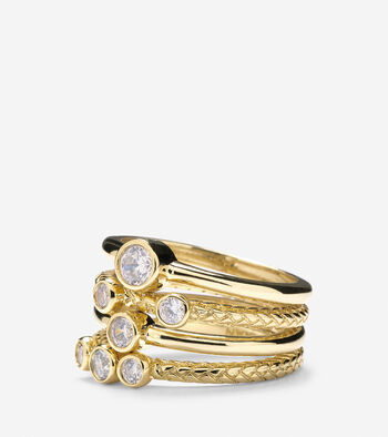 Set of 4 Stack CZ Rings