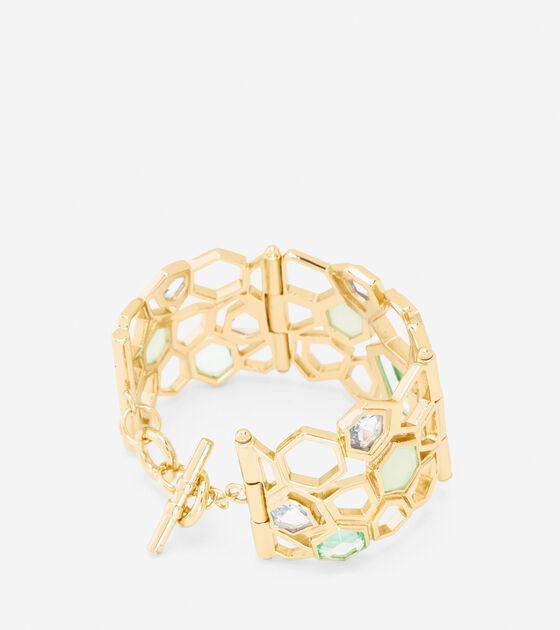 Large Openwork Stone Bracelet