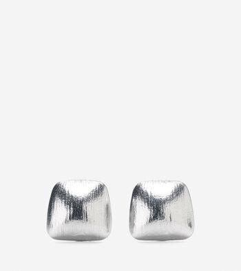 Smooth Geometric Stud Earring
