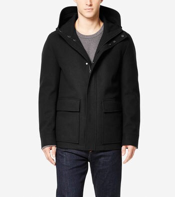 Water-Resistant Wool Jacket with Primaloft