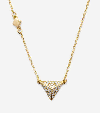 Sterling Silver Peaked Diamond Necklace