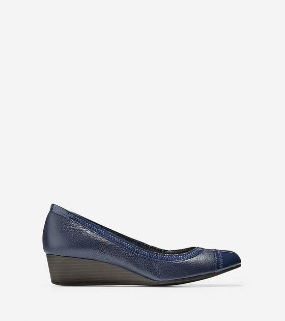 Shoes > Elsie Cap Toe Wedge (40mm)