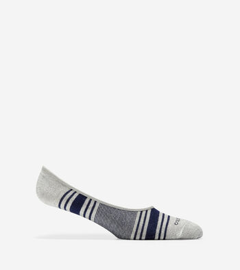 Multi Stripe Sock Liner - 2 Pair