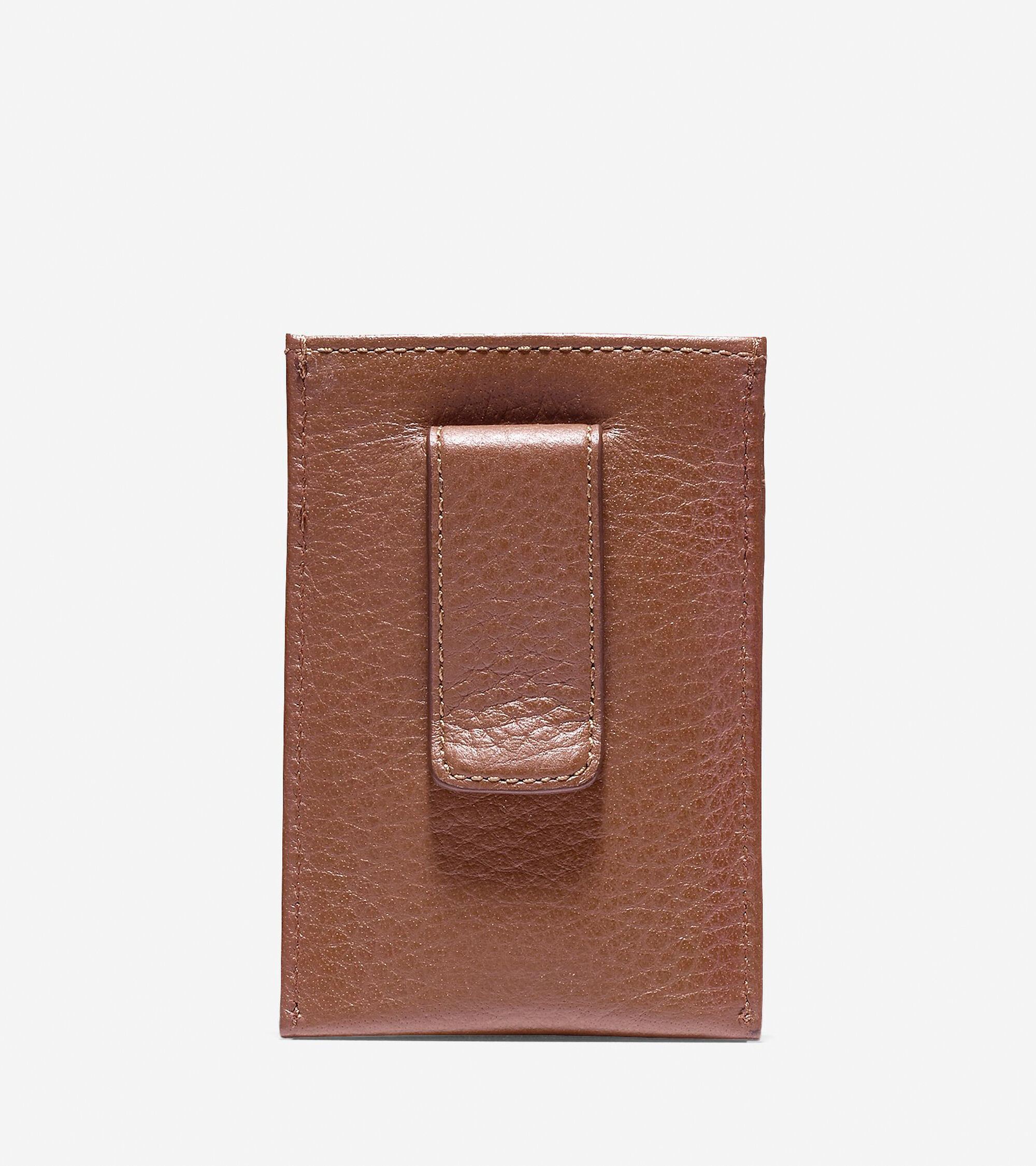 Cole Haan Wayland Card Case With Money Clip in British Tan ...