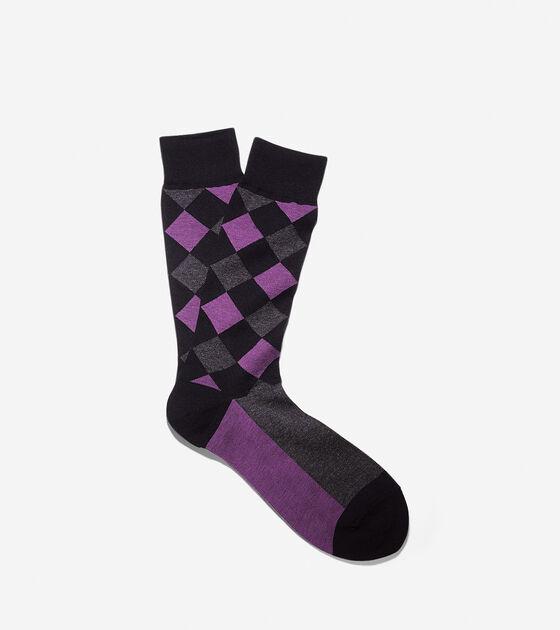 Socks > Woven Argyle Crew Socks