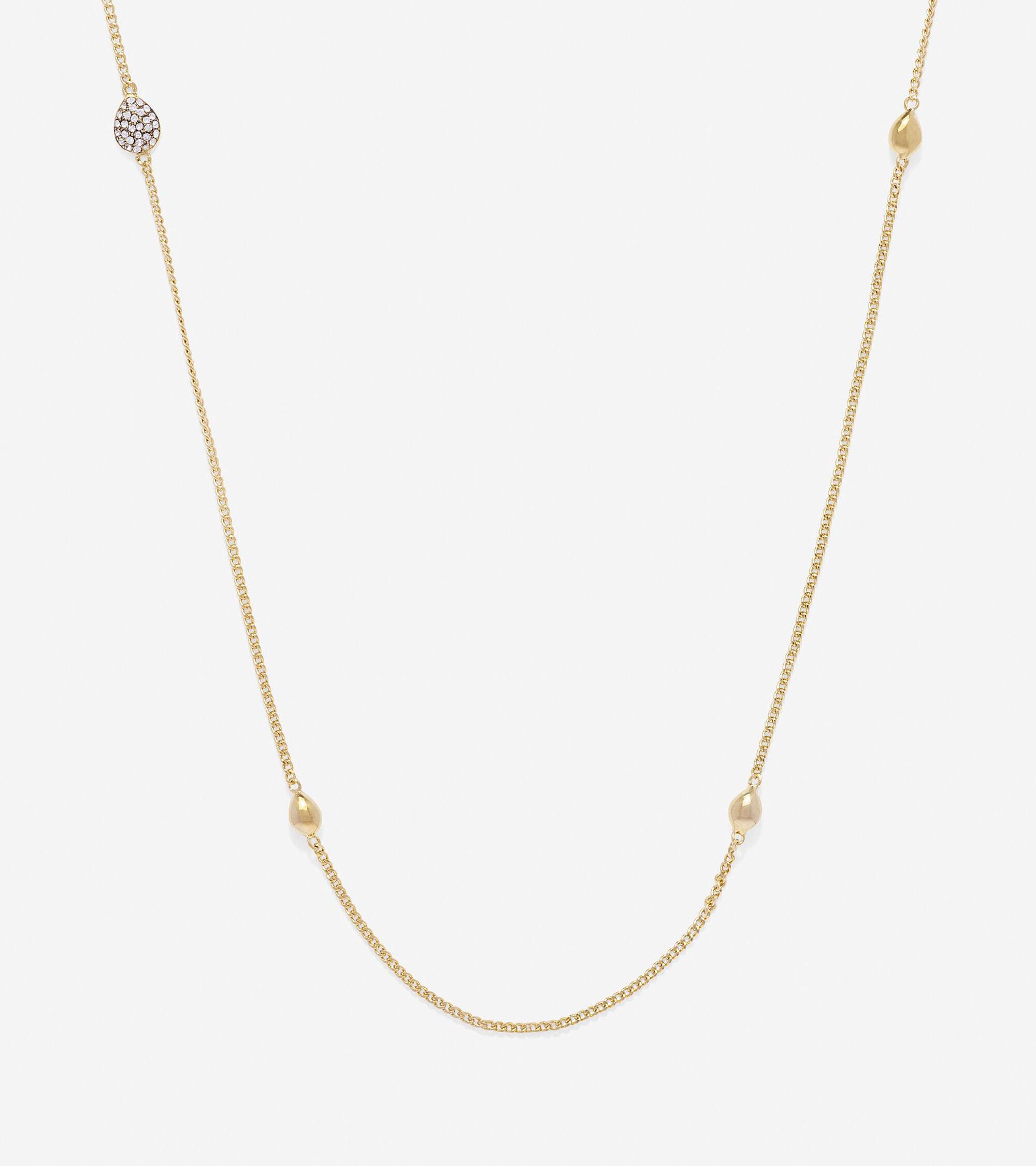 Jewelry > Waters Edge Teardrop Swarovski Station Necklace