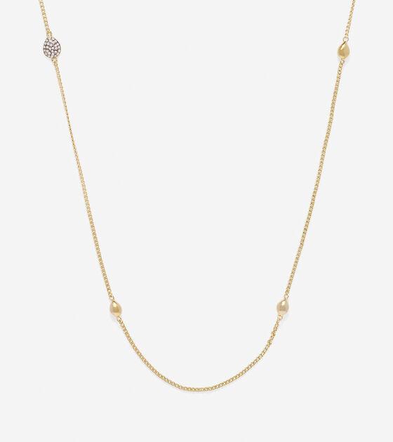 Accessories > Waters Edge Teardrop Swarovski Station Necklace