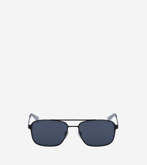 Sunglasses > Flat Metal Navigator Sunglasses