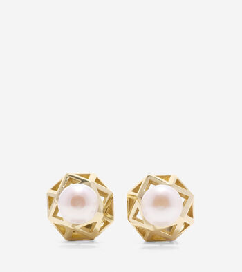 Tali Pearl Fresh Water Pearl Front Back Earrings