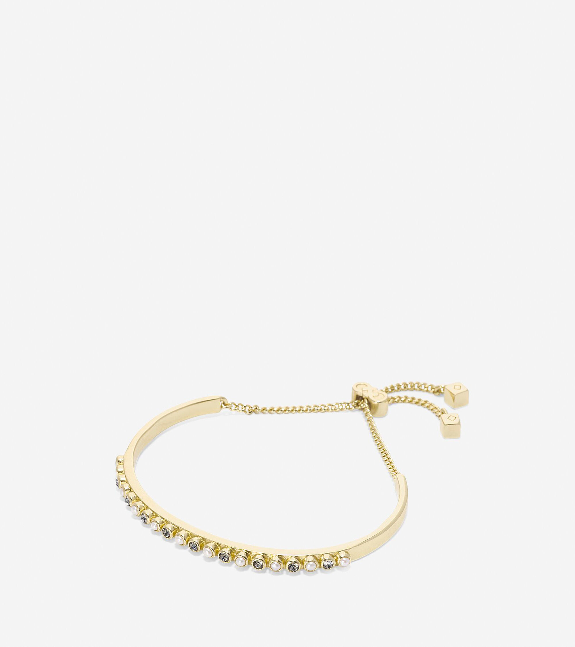 Jewelry > To The Moon Pave Bar Pull Tie Bracelet