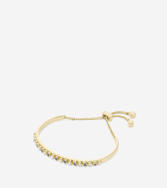 Accessories > To The Moon Pave Bar Pull Tie Bracelet