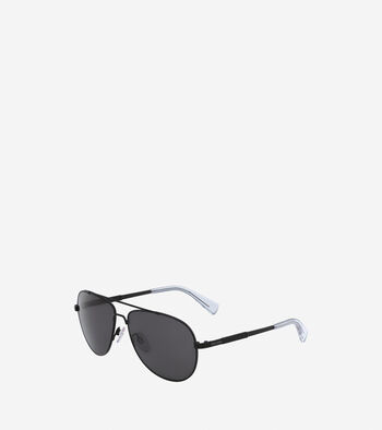 Metal Weave Aviator Sunglasses