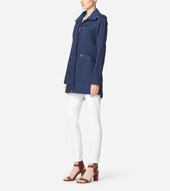 Packable Rainwear Single Breasted Rain Jacket